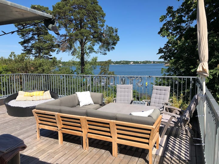 Seaside location near Stockholm, car + boat incl