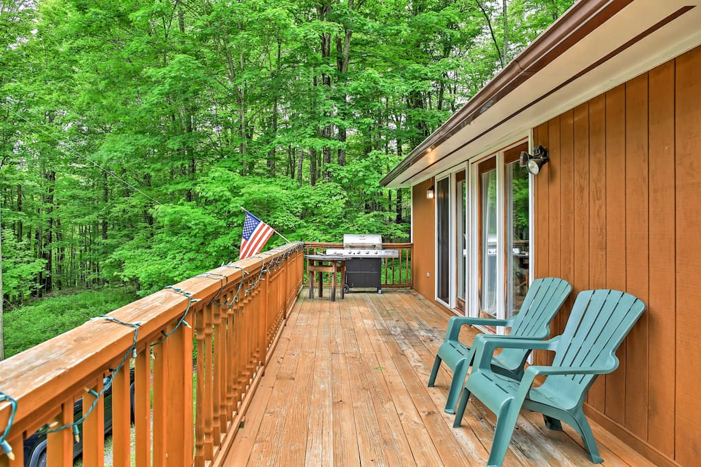 The large deck and yard make this property perfect for BBQs, fires or relaxing.