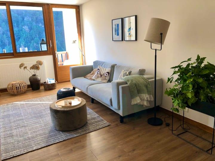 Sfeervol ruim appartement Moûtiers, Les 3 Vallées