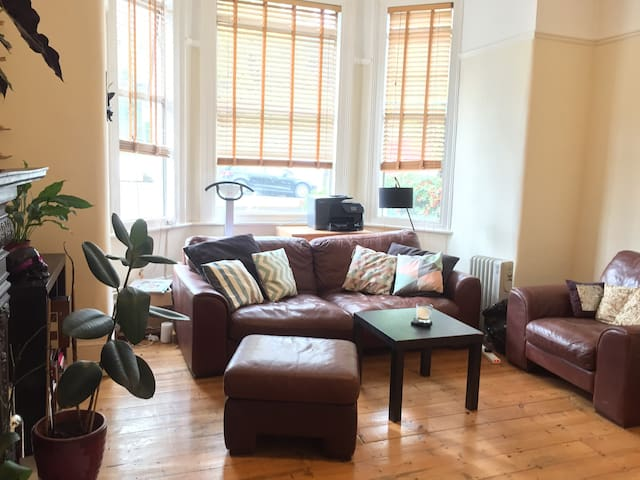 Large Double in a 2-bed garden flat in Ally Pally