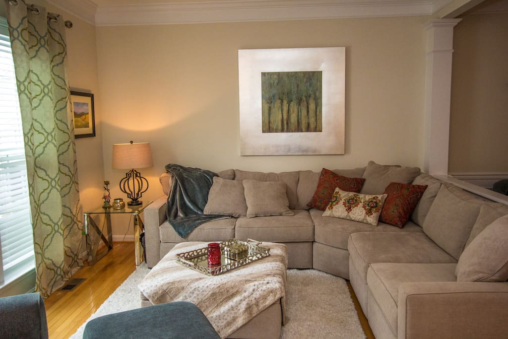 Spacious and Cozy Tv area: Couches are super-comfortable for an extra sleeping option