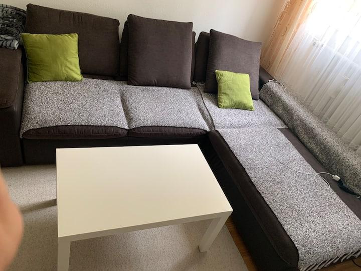 Livingroom with bedsofa