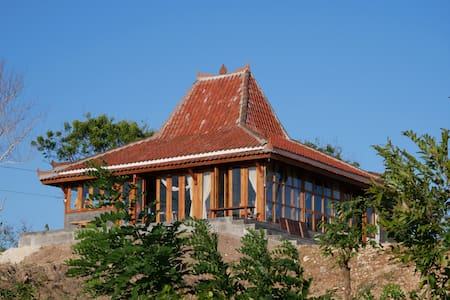 Javanese Joglo with panoramic view.