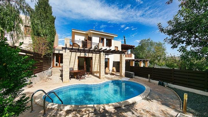 Private Pool Villa Aphrodite Hills Extensive views