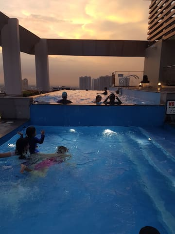Roofdeck Infinity Pool entrance fee (optional usage)  Operating Hours: 8:00 am - 10:00 pm  Close during tuesday for cleaning  P200.00/person/day during weekdays P300.00/person/day during weekends  12yrs old below free of charge