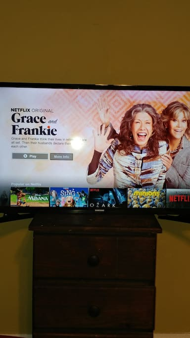 smart tv with use of Netflix.