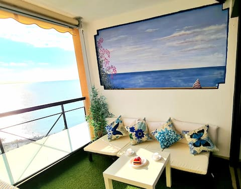 Cannes Apartment 180° panoramic sea view beach 50m