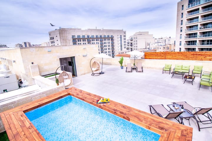 Mamilla Luxury Rooftop-private pool - 650sqm