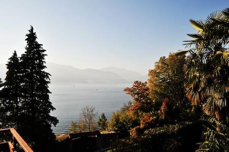 tolle Sicht, Privatstrand,Balkon+ Terasse - Leggiuno - 公寓