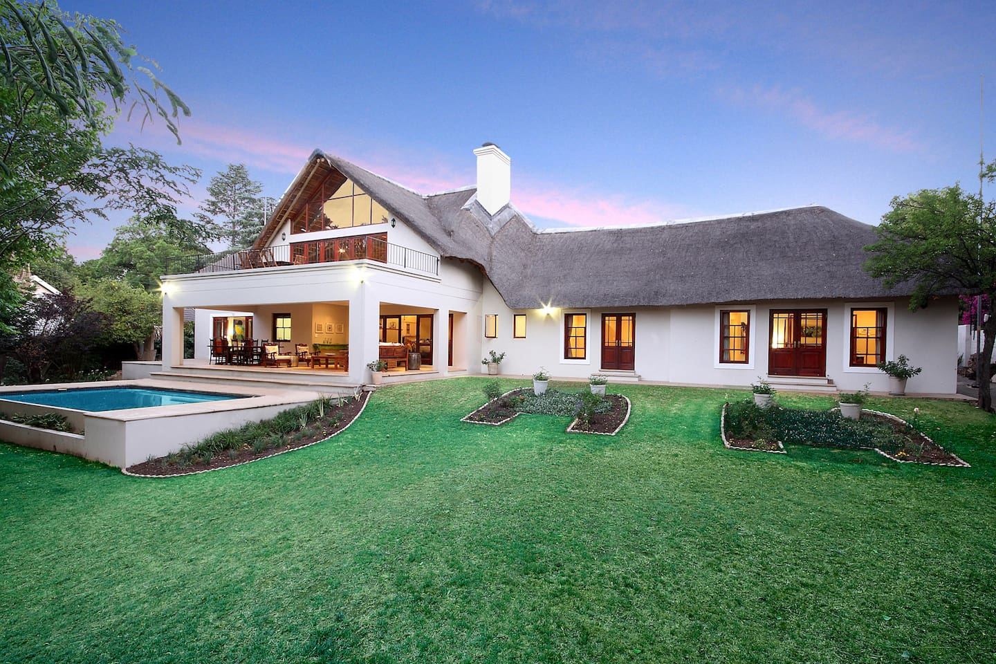 Enjoy peace, tranquility and bird song just minutes from the Sandton CBD.