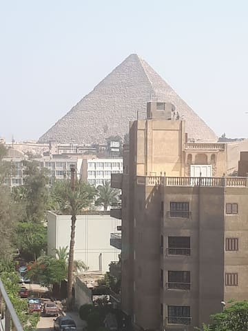 Pyramids &Grand Egyptian museum view