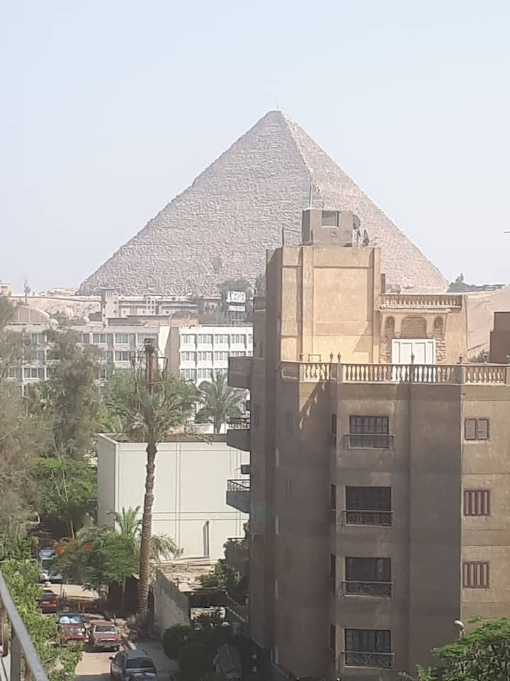 Pyramids &Grand Egyptian museum view