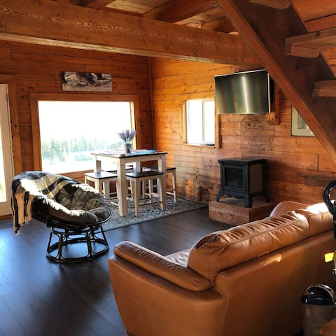 Capt'n Jack's Hideaway-a real log cabin with views