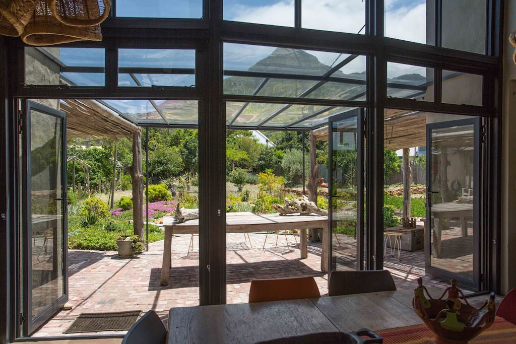 Veranda and access to large landscaped garden