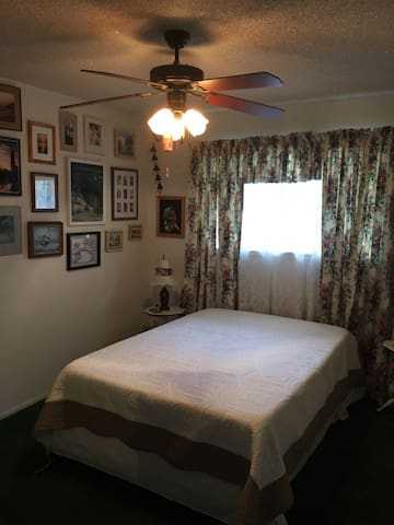 Nice comfortable room in a quiet neighborhood.