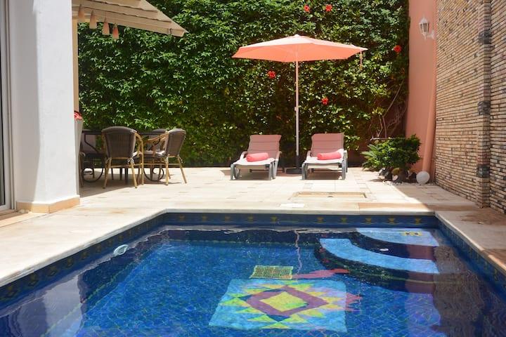 Villa im Zentrum von Agadir, privater Pool, Klima,