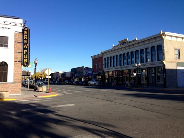 A snap shot of downtown, just a block to the West.
