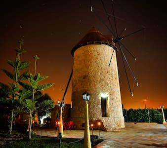 Windmill inside the orchard of Murcia