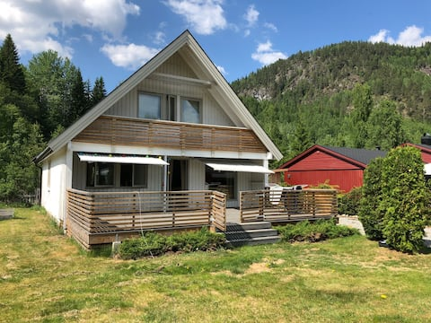 Room in house, beautiful nature, hiking, fishing