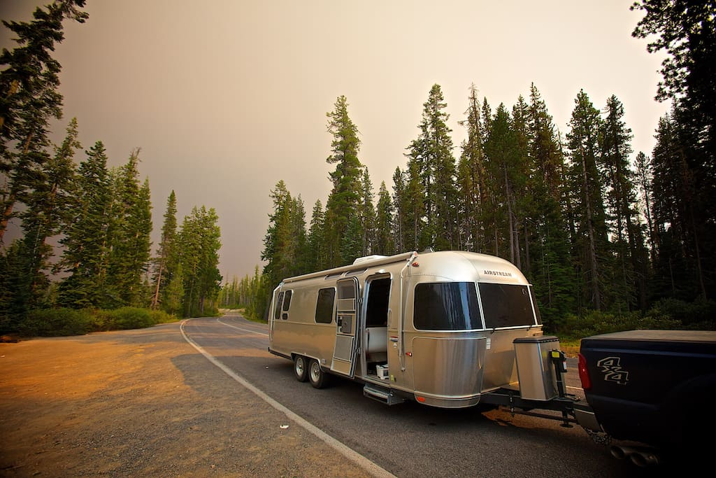 Our beautiful 28' Airstream International (Serenity Edition) is modern and comfy!