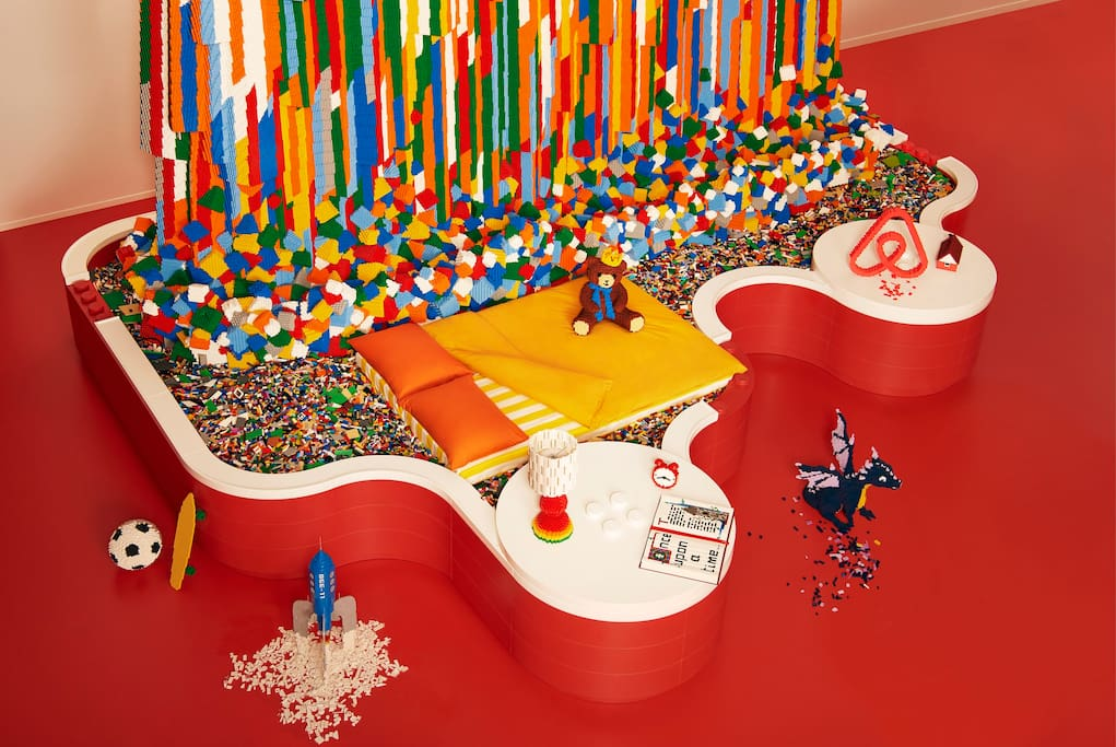 Once upon a time … one lucky winner and their family spent a night in LEGO heaven.