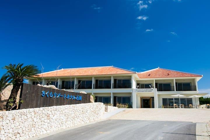 樱花度假酒店石垣海景标准间带阁楼2人入住Ocean-view STD room(Loft)2 pax