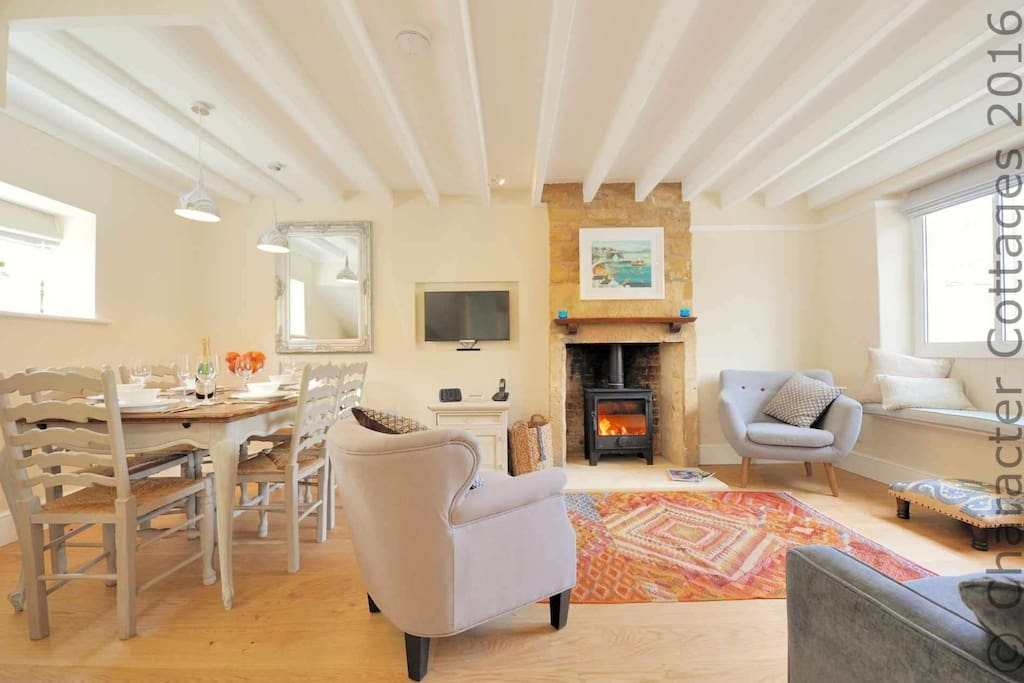 The wonderful open plan living space