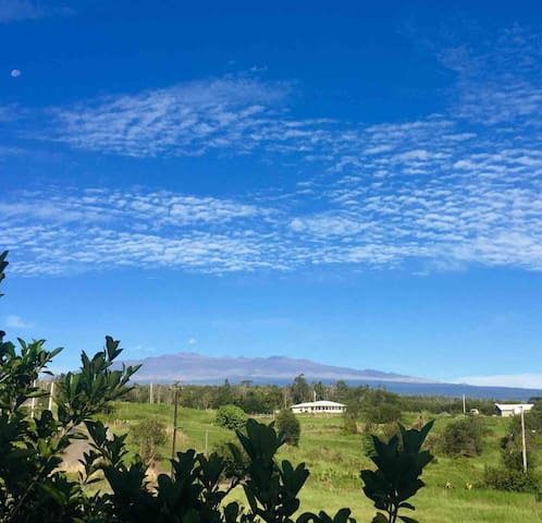 Beautiful Mauna Kea and nature views from our lani.
