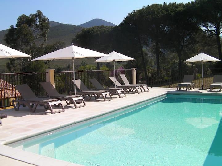 Gîte piscine chauffée,clim,wifi,rivière 1km,mer5km