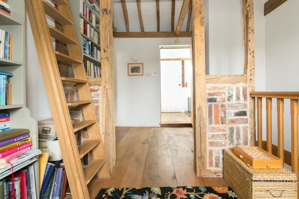 Our library. Guests are welcome to browse and read.