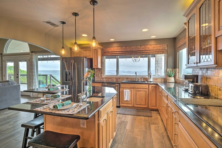 Take in the views out the expansive windows while you cook.