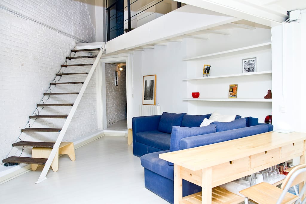 Cool quaint loft in barcelona apartments for rent in - Location loft barcelone ...