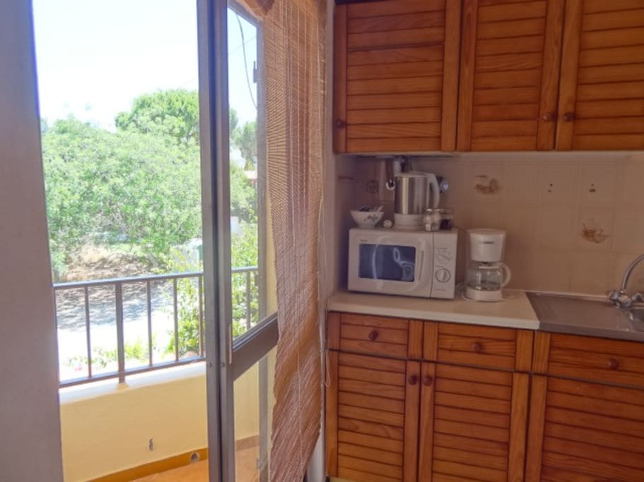 Kitchen & small balcony