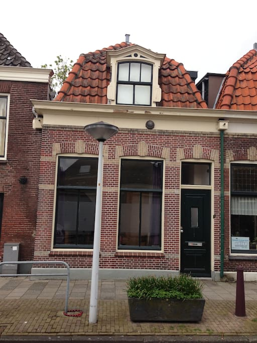 Old caracteristic house (1886) in the centre of Leiden.