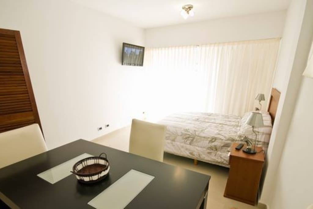 Double bed and LCD TV