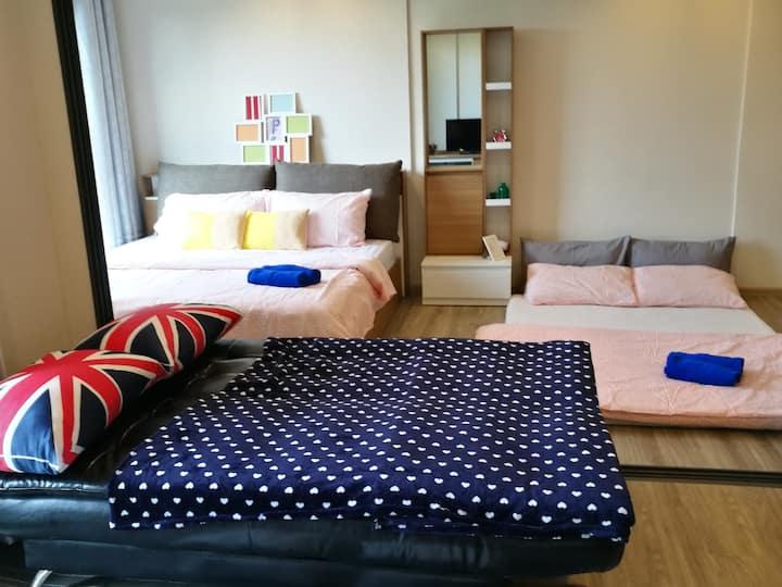 Comfy & Juicy room for 4 ppl near beach