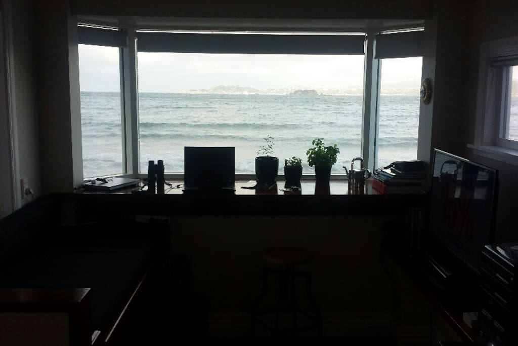 This is the view from the kitchen which hasn't been captured very well in this pic but trust me its special!
