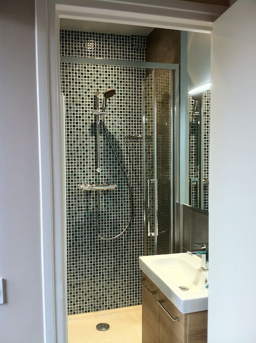 Petite salle de bain très cosy et moderne