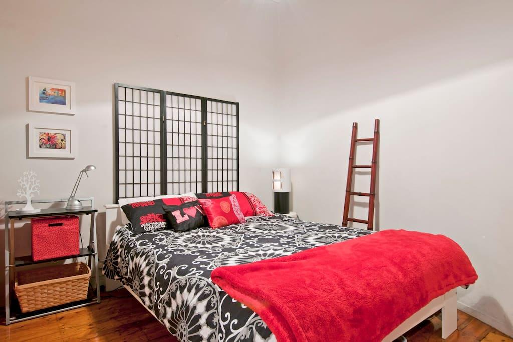 Comfy Queen size bed with doona