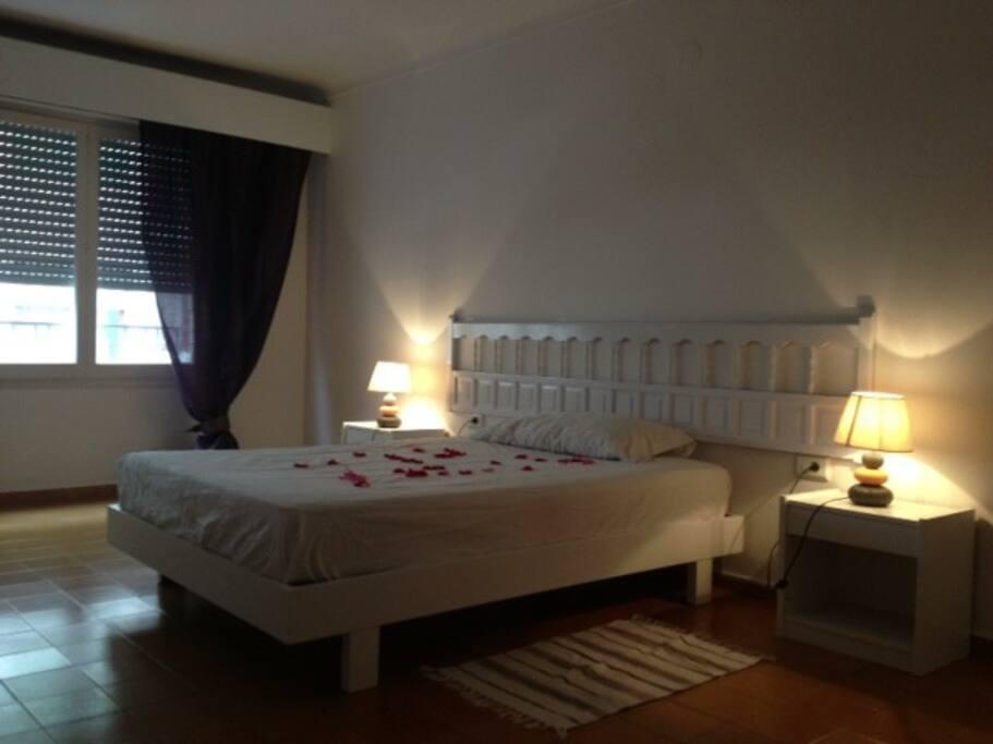 Habitacion version Double,con una cama de matrimonio . Muy luminosa y bien decorada..