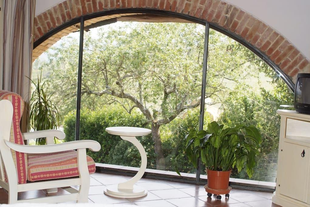 tipica camera secondo lo stile e le tradizioni Toscane