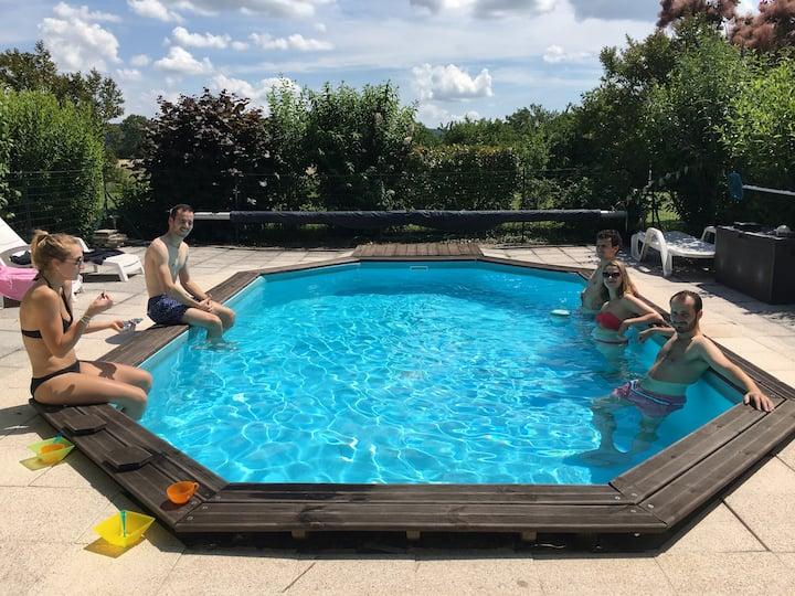 Maison de vacances - 14 pers - Calme, piscine, bbq