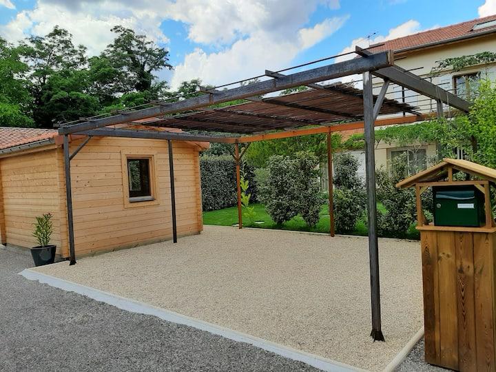 T2 rdc Villa terrasse ombragée et jardin clos