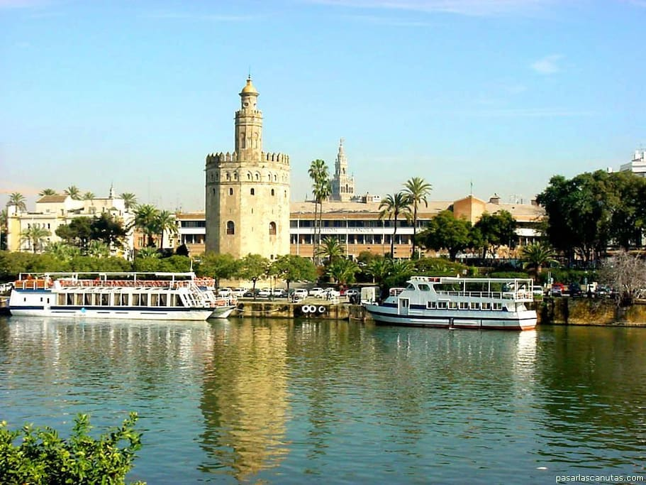 The Guadalquivir river (it´s not a view from the apartment)