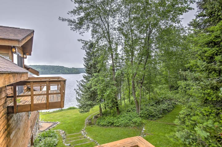 NEW! Lakefront 4BR Iron River House w/Sauna & Deck