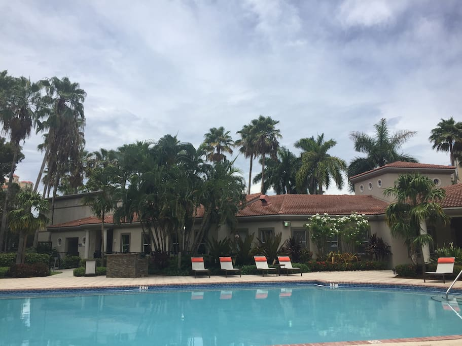 Full pool & gym access for residents
