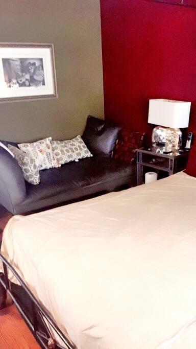 Lounge inside bedroom