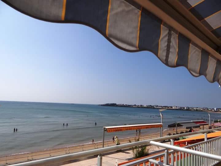 Face océan Wifi/Loggia/Terrasse Vue entrée port