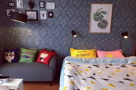 市中心 台江区宝龙城广场楼上45平方标准 单身公寓 大床房 酒店公寓 - 福州 - Pis