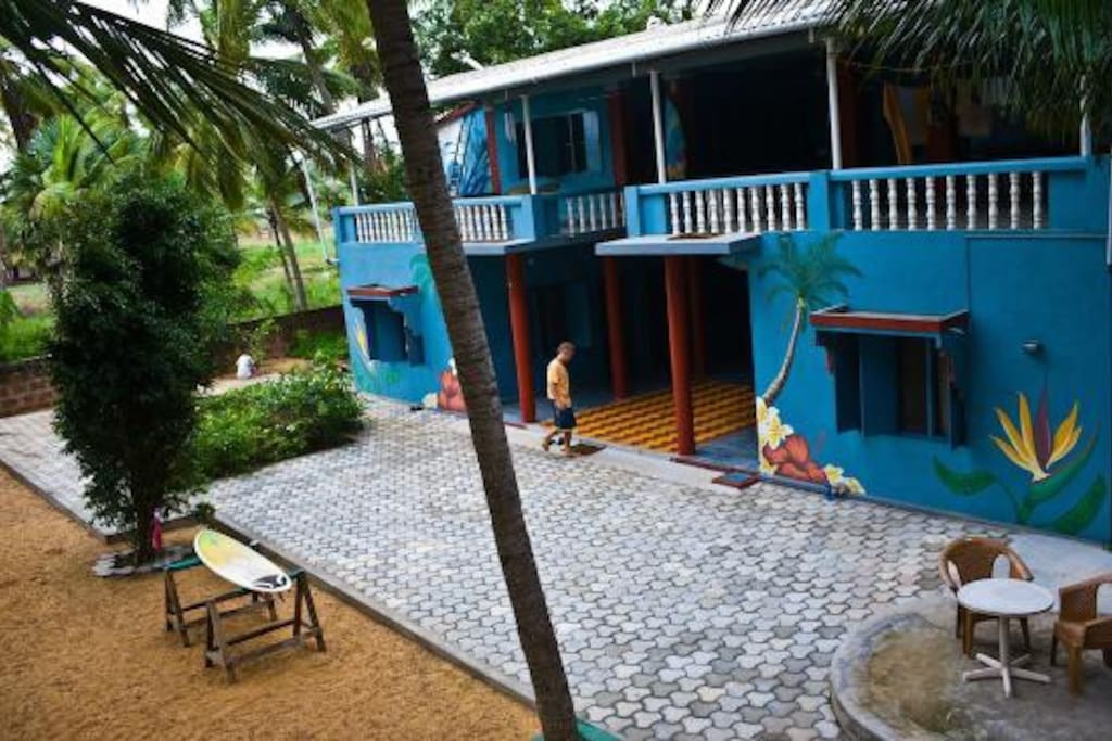 Side view of the homestay